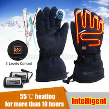 Electric Recharge Powered Warm Heated Gloves Winter Motorcycle Bike Gloves Black