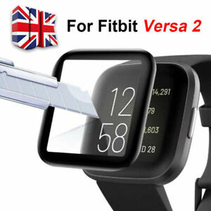 Genuine For Fitbit Versa 2 Full 3D Cover Tempered Glass Screen Protector UK