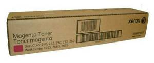 2xToner Magenta Original Xerox Docucolor DC 240 242 250 252 260 WC 7655 7665 OVP