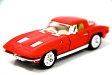 """Kinsmart 5"""" 1963 Chevy Chevrolet Corvette Stingray Diecast Model Toy 1:36 Red"""