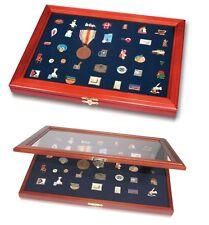 Holz Vitrine für Pins Abzeichen Medaillen Anstecknadeln Buttons SAFE 5866 / 5873