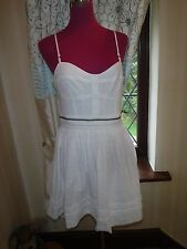 Amazing All Saints anglais Prom Dress White Size 14 VGC