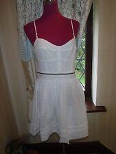 Amazing All Saints anglais Prom Dress White Size 14 VGC