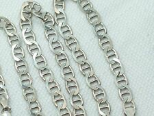 "Estate Sterling Silver Mariner Link Chain Necklace Italy 18"" Men's or Ladies"