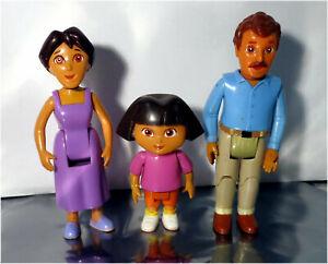 3 x Vintage Viacom Mattel, Dora The Explorer Dollhouse Family Character, B9620