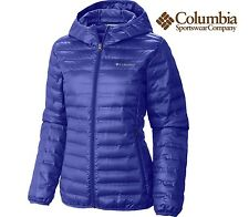 COLUMBIA WOMEN'S Plus size 3XL FLASH FWD HOODED SUPER LIGHT DOWN JACKET in grape
