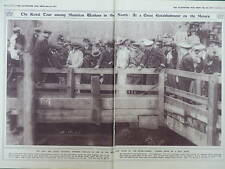 1917 MERSEY MUNITION AND WAR WORKERS ROYAL TOUR DRY DOCKS WWI WW1 DOUBLE PAGE