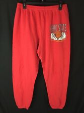 Ohio State Buckeyes Adult Xl Red Sweatpants Pannill Usa Sneakers Vintage 1980s