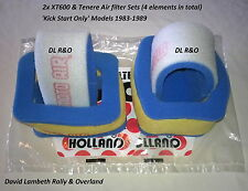 2x YAMAHA XT600 Tenere Air Cleaner Element Sets. Replaces 34L 14451 34L 14461 00