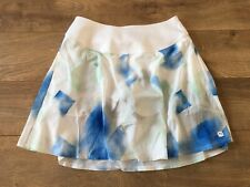 Puma Pwrshape Soft Geo Golf Skirt White Blue Green Women's Sz S ( 596672 01 )