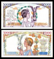 France, 5000 Francs Victoire, P:97a, Fayette: 1939 VF+ / XF