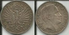 REGNO D'ITALIA VITT. EMAN. III 1 LIRA 1901 AQUILA SABAUDA BB+