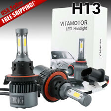 YITA 2X 200W 20000lm LED Headlight Kit H13 9008 High/Low Beams 6000K White Bulbs