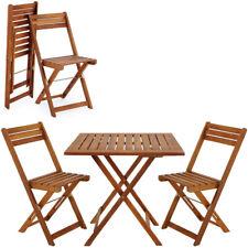 Ensemble table et chaises en bois d´acacia 2 chaises et 1 table salon de jardin