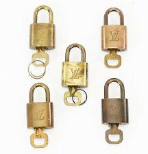 Authentic LOUIS VUITTON Padlock and Keys 5 Piece Set #37433