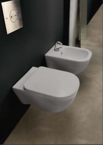 No Code Loom 52x35 Rimless Wall Hung Pan and Soft Close Seat