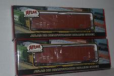 2 Atlas 1358 CP Canadian Pacific 50' Precision Design Box Car Ho Scale