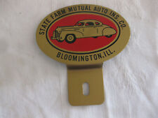 NOS Vintage STATE FARM Ins LICENSE PLATE TOPPER New old stock