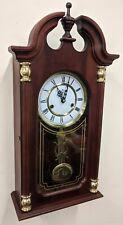 Traditional Style Wood Pendulum Hanging Wall Clock