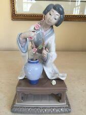 LLADRO Retired Geisha Girl Arranging Flowers - Gloss Finish - Model #4840