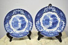 Petrus Regout Castillo Porcelain Plates Transfer ware Holland 1879-1899 x 2
