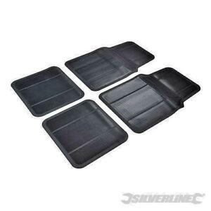 Silverline 426484 4pce All-Weather Car Mat Set 4 Piece, Black