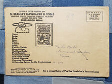 1949 season Hawbaker Hawbaker's Trappers Trapping Supply Catalog Envelope