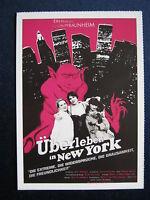 Filmplakatkarte  cinema   Überleben in New York   Rosa von Praunheim