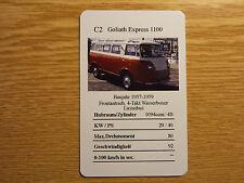 Borgward Goliath Express 1100 Auto Quartett Einzelkarte Oldtimer Klassiker
