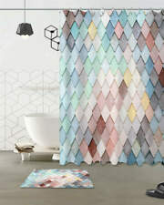 Rainbow Pattern Waterproof Bath Polyester Shower Curtain Liner Water Resistant