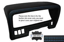 BLUE STITCHING SPEEDO HOOD TRIM LEATHER SKIN COVER FITS NISSAN PATROL Y60