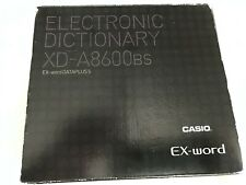 Casio Electronic Dictionary Xd-A8600Bs Straight From Japan Compare At $270.00