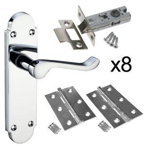 Epsom Internal Door Handle Pack - 8 Latch Door Handle Pack Hinges and Latch