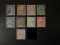 Lot timbres classiques Colonies Réunion (voir photo)