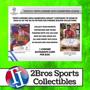 20-21 UEFA CL Chrome 6 Hobby Box Half Case Break 6/14 6pm CST Manchester United