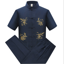 Tang Suit Ethnic Style Embroidered T-shirt Chinese Style Summer Middle-agedShede