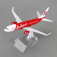 16cm Boeing 737 Air Asia.com Aerolíneas Avión Aviones Modelo Metálico