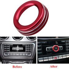 Red Volume Knob Ring Trim Cover For Mercedes/Benz W176 W246 W212 W16 GLK GLA CLA