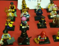 Lego Minifigures Series 7 Full Set Of 16 With Accessories And Base Plates