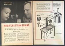 Simple Mini Steam Engine & Boiler 1963 How-To Build PLANS