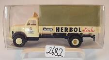 Brekina 1/87 43021 Borgward B 4500 LKW Pritsche/Plane HERBOL Lacke OVP #2682