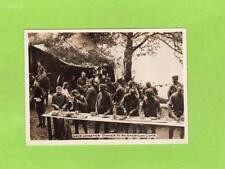 Lake Longemer Dinner American Camp WWI RP photo on card ( NOT POSTCARD )