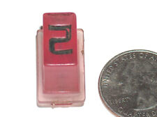 Vtg Off Un Rockola Juke-Box Modèle 454 OEM Violet Plastique Select Bouton D 2 VG