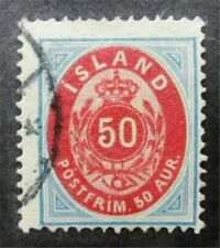 nystamps Iceland Stamp # 19 Used $100 F26y754