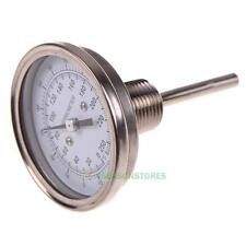 "SE#N 1/2"" NPT Stainless Steel Thermometer Moonshine Still Condenser Brew Mash T"