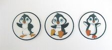 PRE CUT 12 EDIBLE RICE PAPER WAFER CARD CUTE PENGUIN CUPCAKE CAKE PARTY TOPPERS