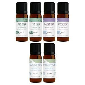 WellbeingMe Essential Oil Multipack | Tea Tree,  Lavender & Eucalyptus (x2 Each)
