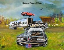 """Hazzard Bound & Down"" 2013 Dukes of Hazzard Art Print"