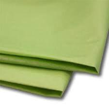 50 Hojas Verde Lima de papel tisú 500x750 ácido libre
