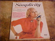 1958 SIMPLICITY SEWING BOOK MAGAZINE